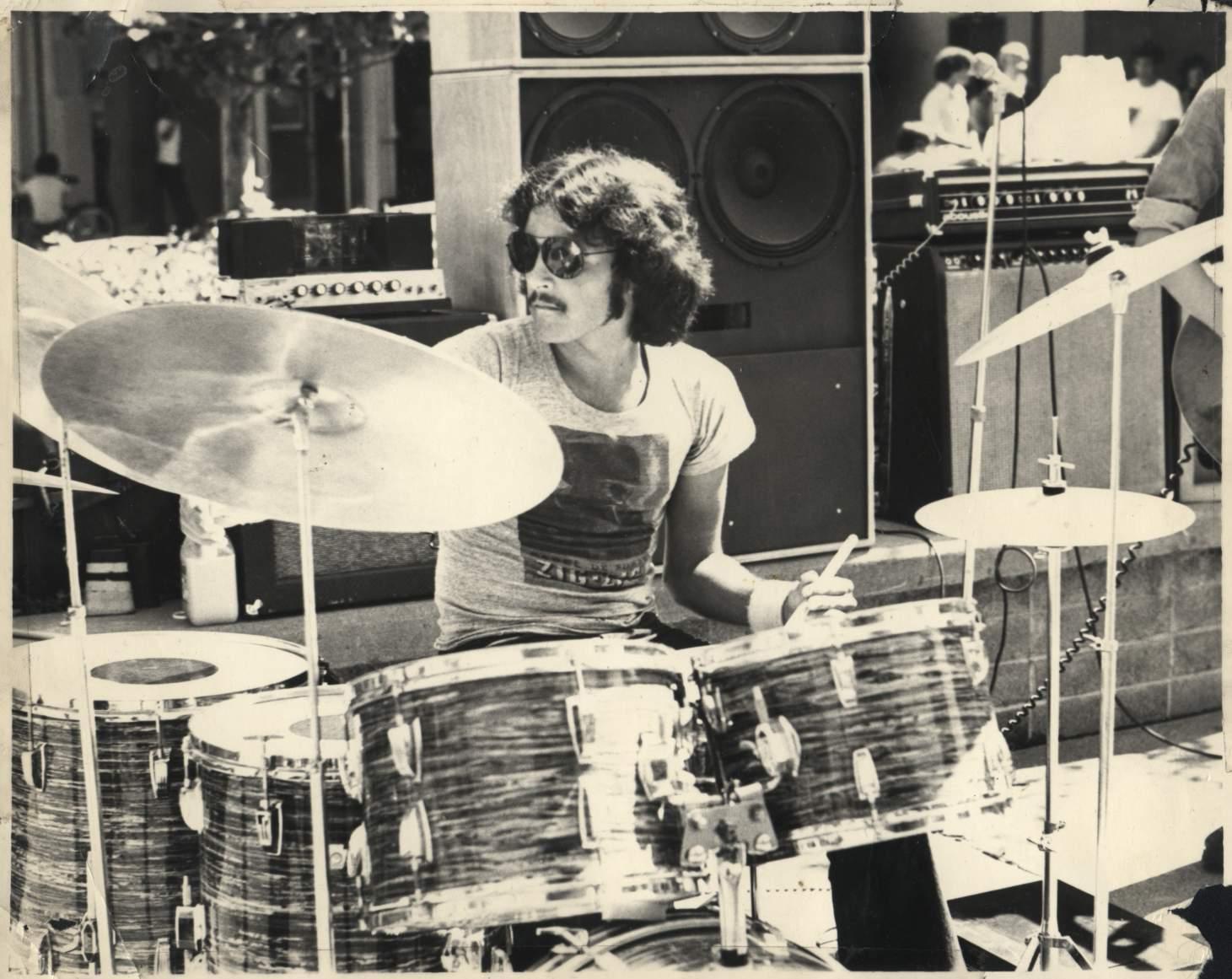 John 'JT' Trombitas performing at Mt. Tam High School in 1974